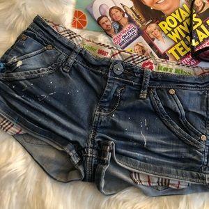 Hot Kiss Distressed Denim Shorts